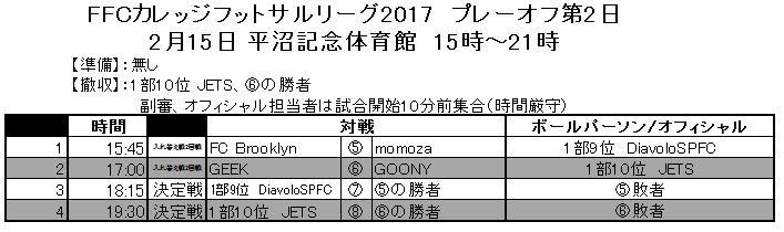 プレーオフ第2日2月15日平沼決定.JPG